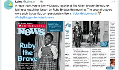 Scholastic News Tweets About GBS!